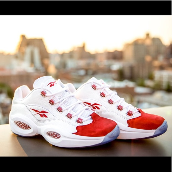 e288560003 Reebok AI 3 Questions Low Red/White Sneakers